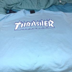 Baby blue Thrasher t-shirt